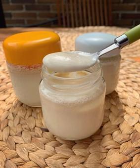 Yogur vegano casero
