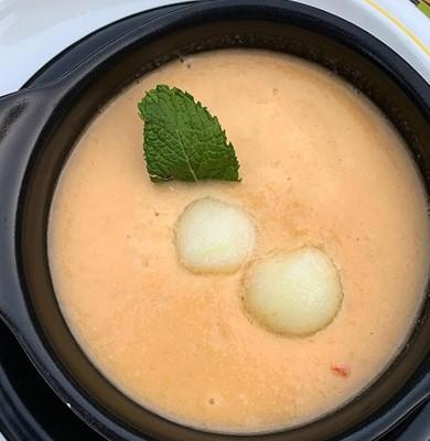 Crema fría de melón