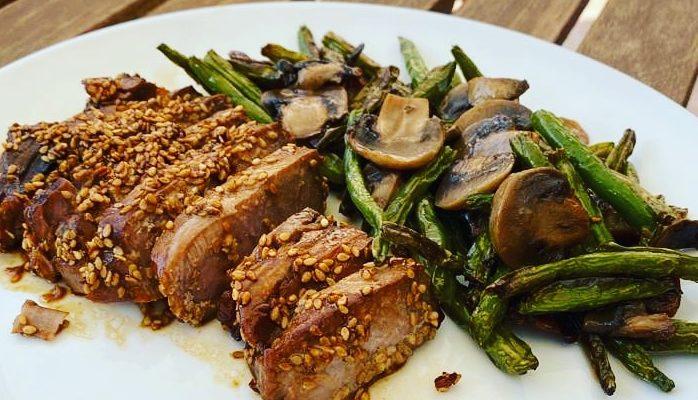 Tataki de atún con verduras