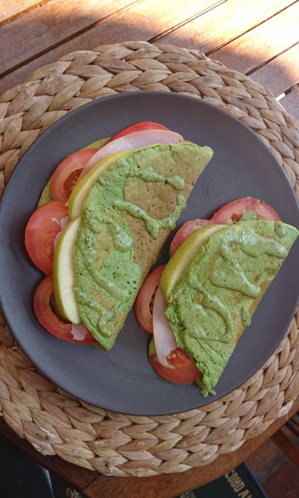 Tortitas saladas de espinacas
